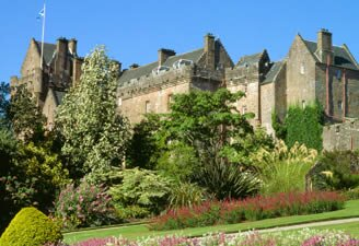 A summer morning at Brodick Castle viewed from its splendorous gardens