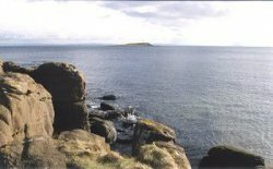 view from Kildonan over the southern Firth of Clyde